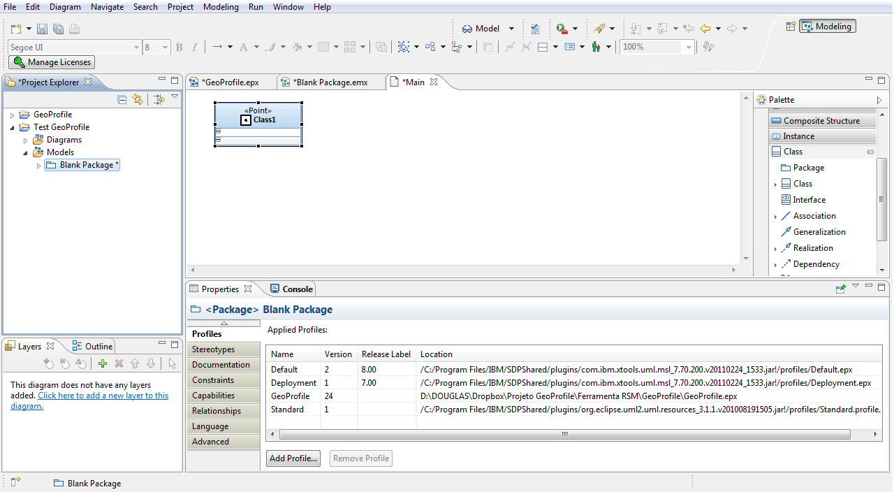 how to create system boundary use case eclipse papyrus